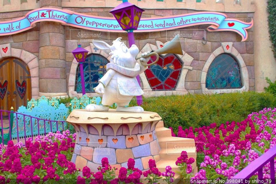 春,うさぎ,ピンク,可愛い,キャラクター,ディズニー,一眼レフ,不思議の国のアリス,白うさぎ