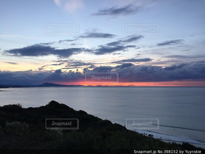 自然,海,夕日,ヨーロッパ,夕陽,コントラスト,大西洋,フランス南西部