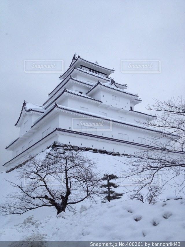 冬,城,会津,会津若松城,福島