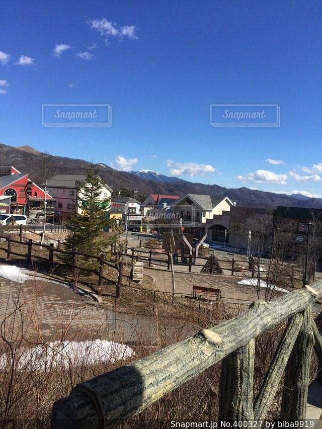 風景,冬,駅前,清里
