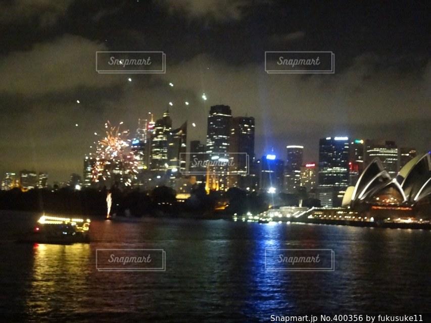 夜景,花火,オーストラリア
