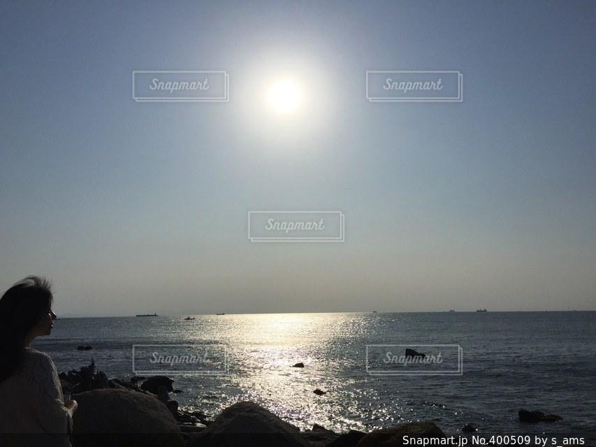 海,夏,太陽,晴れ,夕暮れ,観光地,光,キラキラ,summer