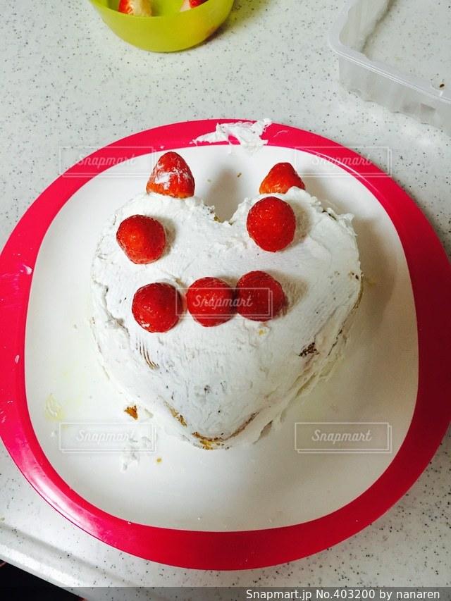 ケーキ,子供,可愛い,手作り,イチゴ,ネコ