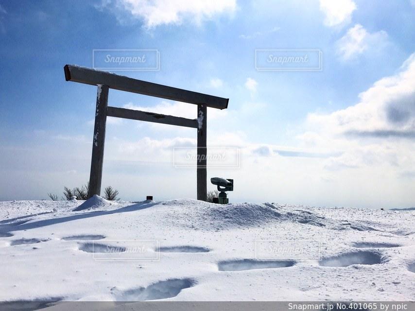 冬,雪,雪山,鳥居,山,御在所岳