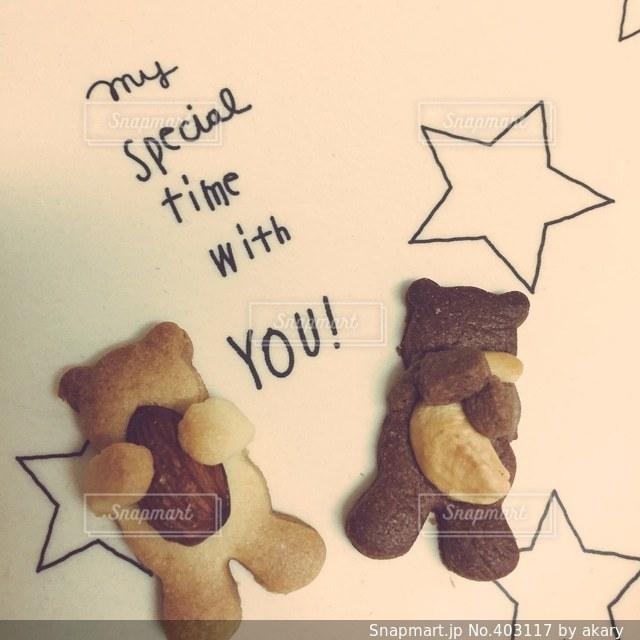 星,お菓子,ティータイム,クッキー,くま