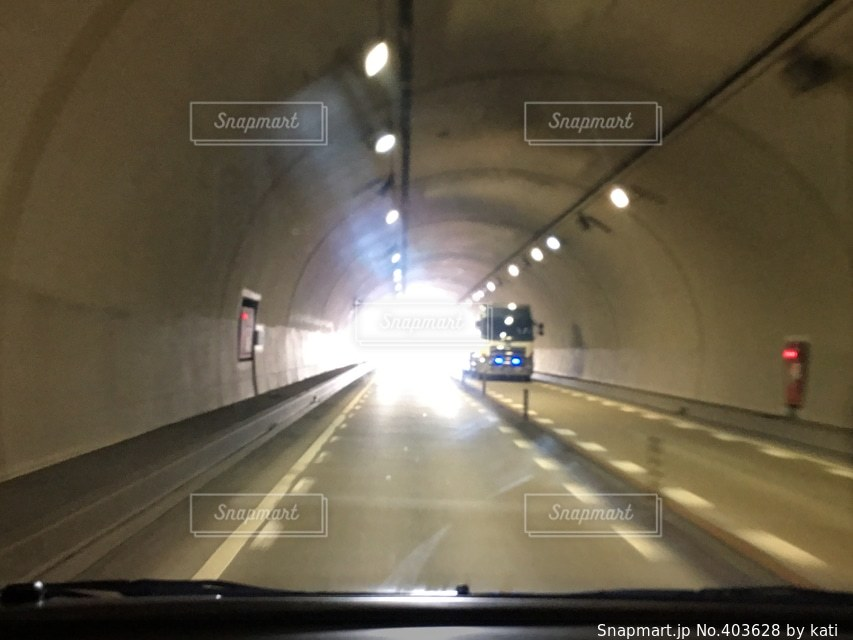 綺麗,晴れ,旅行,トンネル,ドライブ