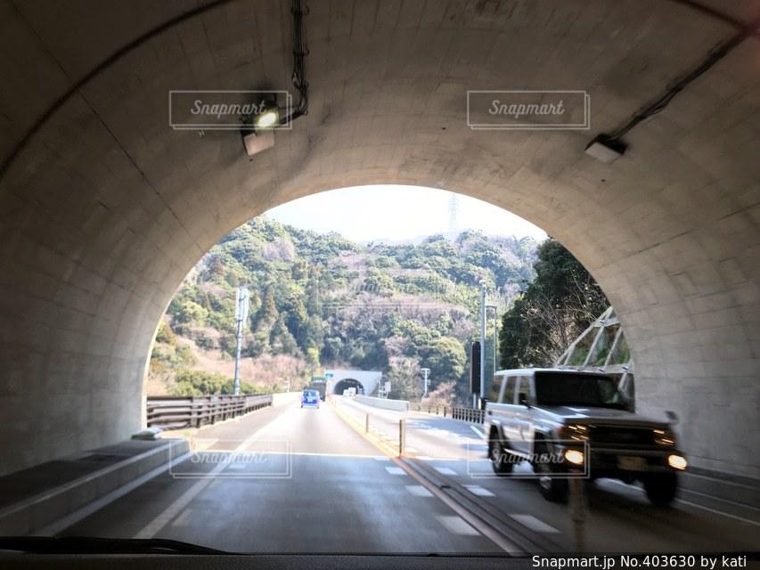 晴れ,景色,旅行,トンネル,ドライブ