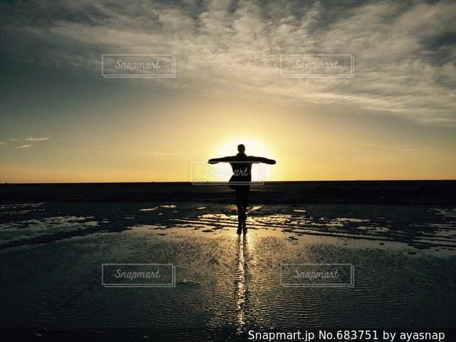 夕日の写真・画像素材[683751]