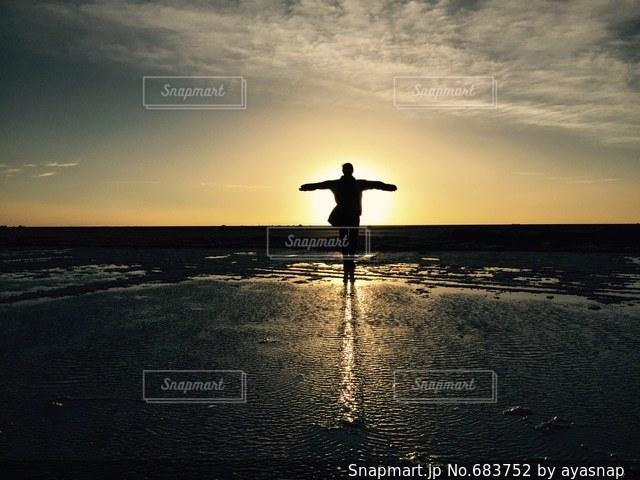 夕日の写真・画像素材[683752]