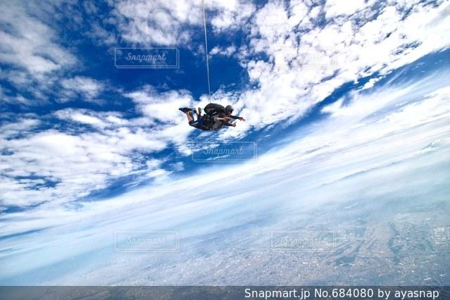スカイダイビングの写真・画像素材[684080]