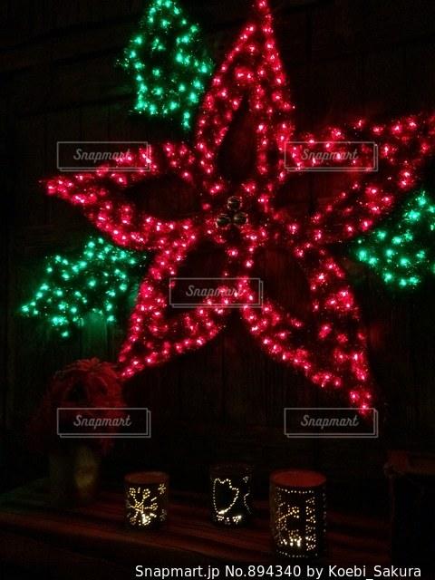 クリスマスイルミネーションの写真・画像素材[894340]