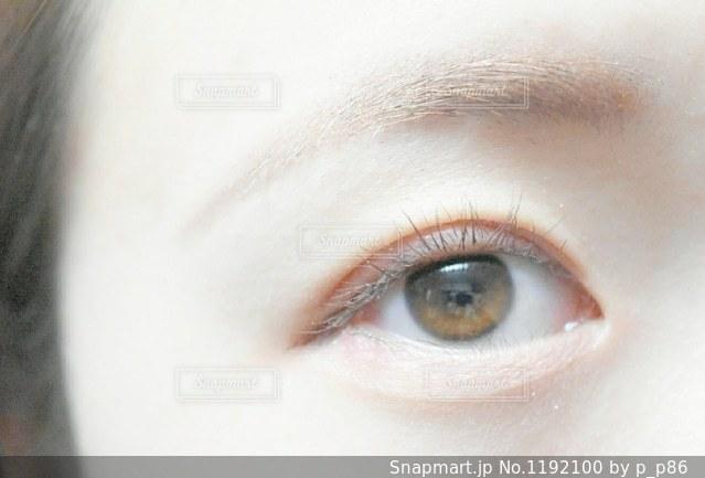 目のアップの写真・画像素材[1192100]