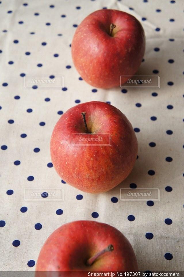 3つの林檎の写真・画像素材[497307]