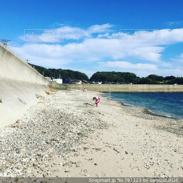 西幡豆の砂浜の写真です。の写真・画像素材[791123]