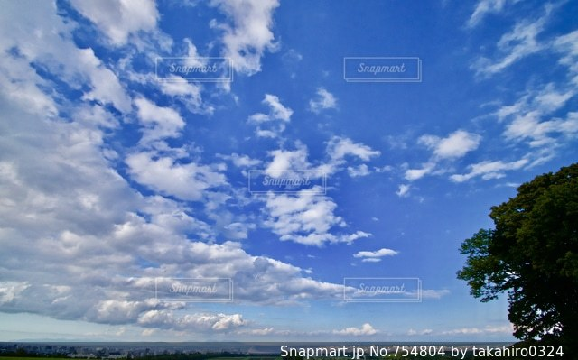 雄大な空の写真・画像素材[754804]