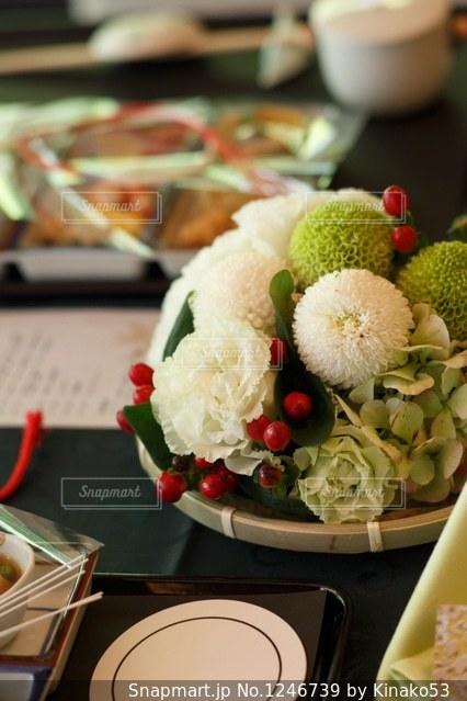 結婚式のテーブル装花の写真 画像素材 1246739 Snapmart スナップ