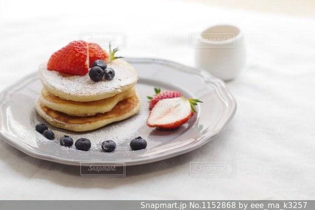 手作りパンケーキの写真・画像素材[1152868]
