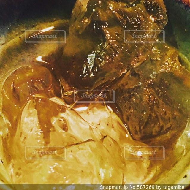 梅酒  お酒  氷  美味しい  黒糖梅酒  乾杯の写真・画像素材[587269]