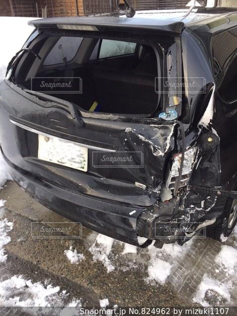 自家用車が‥雪道での後ろからの追突事故 冬は危険です! - No.824962