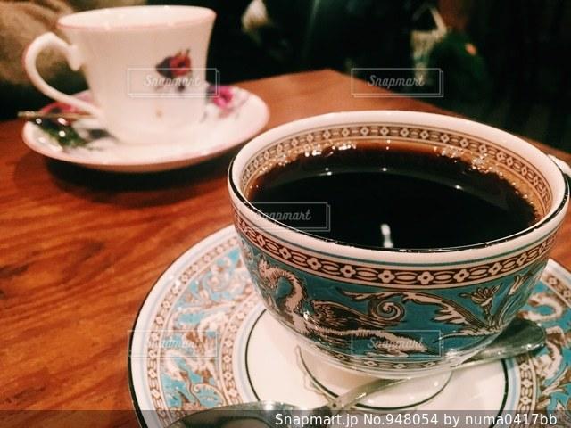 コーヒー カップのアップの写真・画像素材[948054]