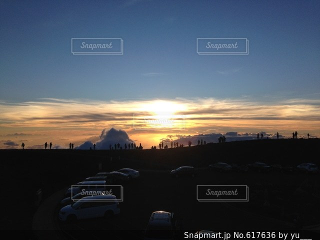山頂の写真・画像素材[617636]