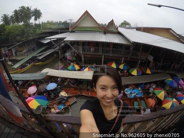バンコク、水上マーケットの写真・画像素材[962605]
