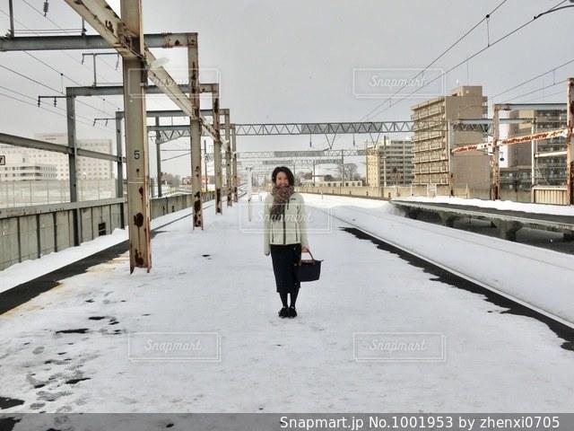 北海道の駅のホームの写真・画像素材[1001953]