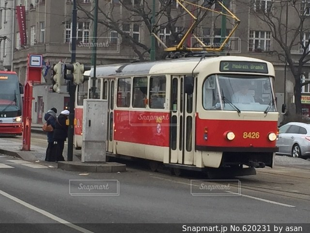 プラハ トラムの写真・画像素材[620231]