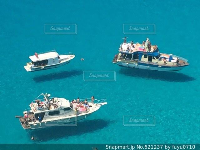 ランペドゥーザ島、空飛ぶ船、青い海、絶景の写真・画像素材[621237]