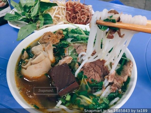 ハノイで食べたフォーの写真・画像素材[1885843]