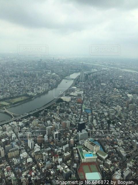 東京 スカイツリー 観光 景色 高所の写真・画像素材[686872]