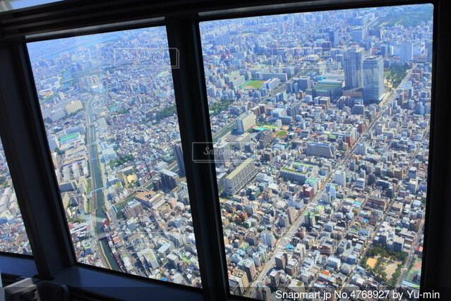 大きな窓の眺めの写真・画像素材[4768927]