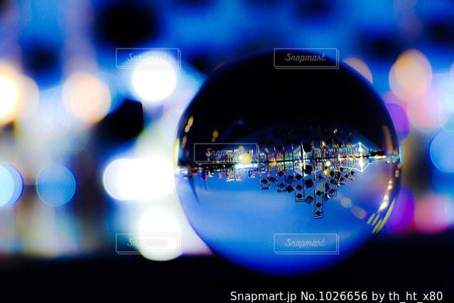水晶玉撮影の写真・画像素材[1026656]