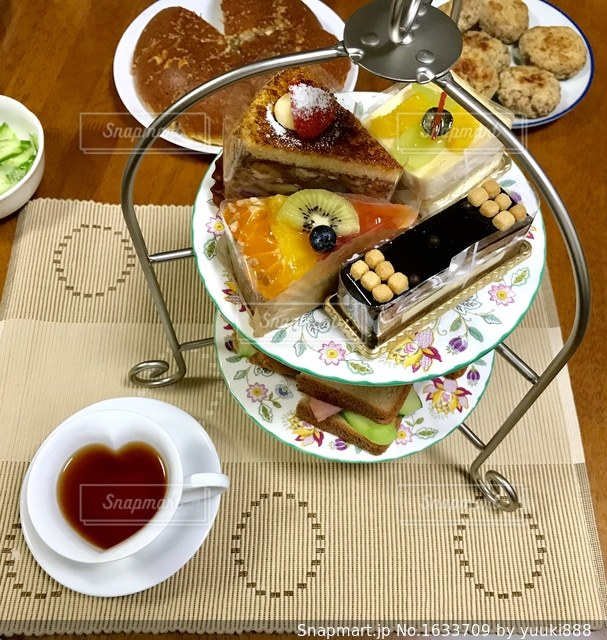 おうちでカフェ♪の写真・画像素材[1633709]