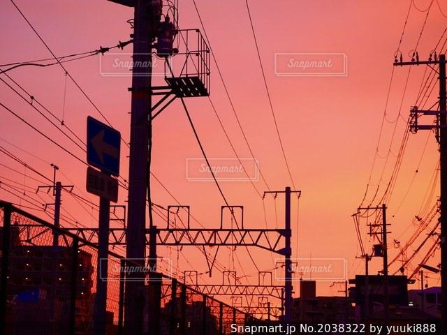 夕焼けの写真・画像素材[2038322]