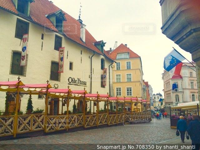 エストニア タリンの旧市街の写真・画像素材[708350]