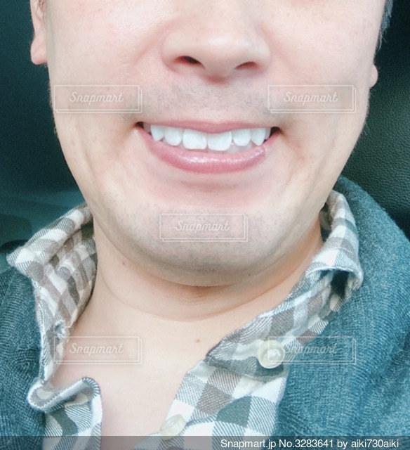 口元に清潔感ある男性の写真・画像素材[3283641]