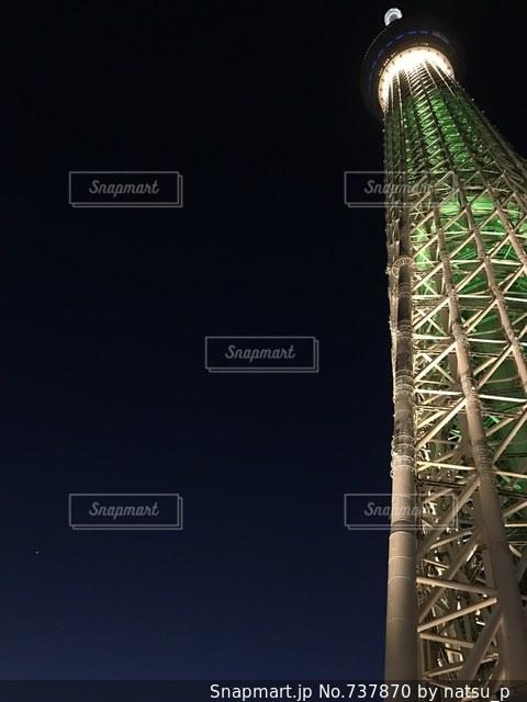 聖夜のスカイツリーの写真・画像素材[737870]