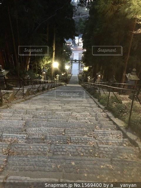 神社の階段の写真・画像素材[1569400]
