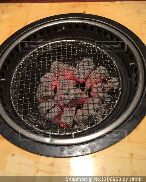 焼肉の網の写真ですの写真・画像素材[1206968]