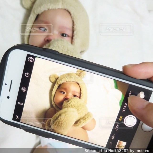 着ぐるみ赤ちゃんを撮るの写真・画像素材[758282]