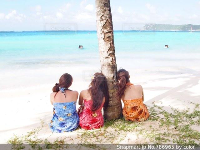 グアムのビーチでの写真・画像素材[786965]