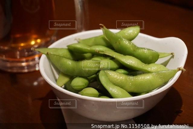 美味しそうな枝豆の写真・画像素材[1158508]