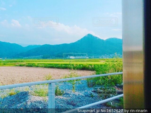 電車からの風景の写真・画像素材[1652627]