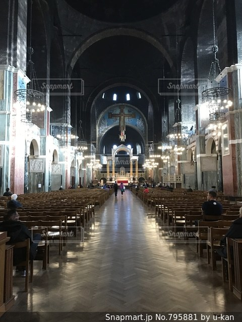 イギリス有数の規模を誇るカトリック教会の写真・画像素材[795881]