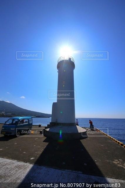 伊豆大島の灯台の写真・画像素材[807907]