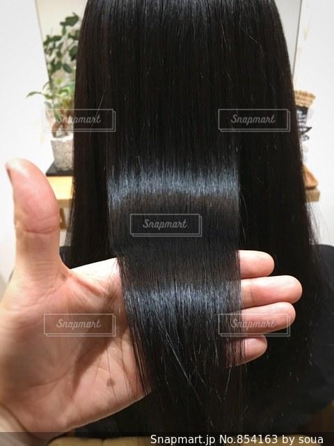 ツヤのある髪の写真・画像素材[854163]