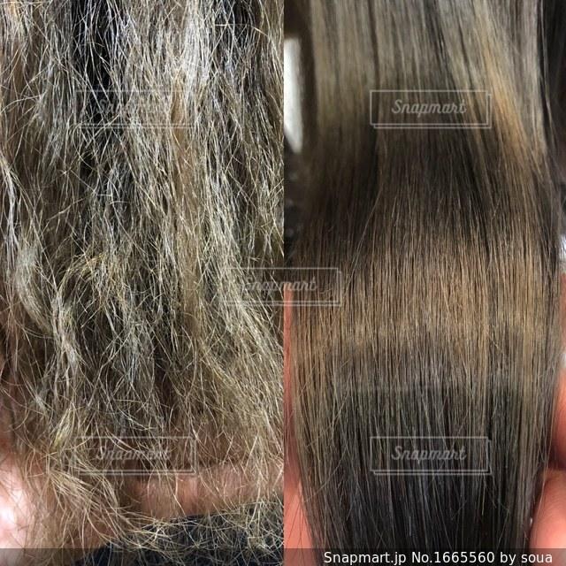 髪質改善のビフォーアフター写真の写真・画像素材[1665560]