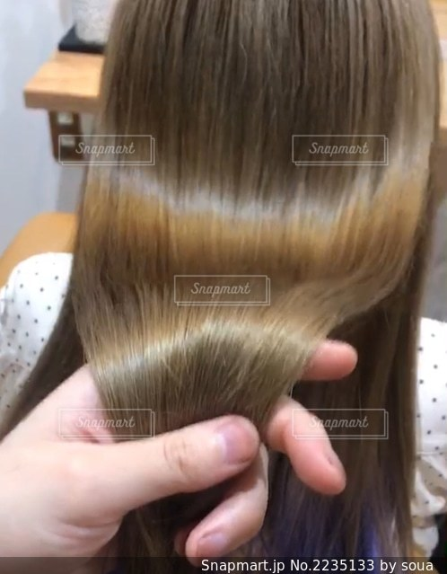 金髪のツヤ髪写真ですの写真・画像素材[2235133]