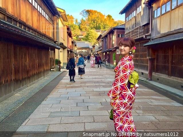日本の美を感じる道の写真・画像素材[834635]